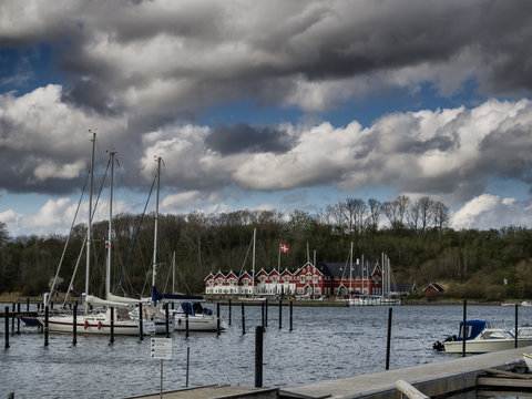 Small harbor in Dyvig on Als in Denmark
