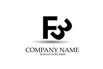 FB Abstract Letter Identity Logo Design Vector.