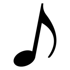 music note melody song image vector illustration black and white