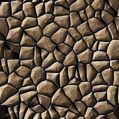 Texture of brown rocks