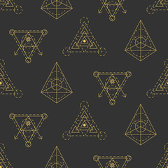 Vector sacred geometry seamless pattern