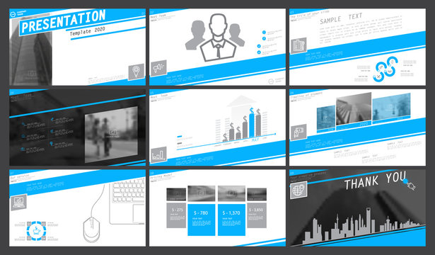 Blue, gray, presentation template, white background. 2020. Creative. The best infographic graphics. leaflet, flyer, corporate report, marketing, screen, advertisement, document, annual report, vector