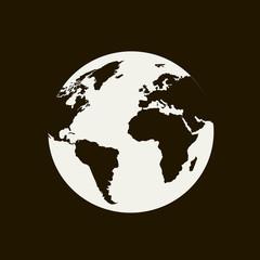 Globe on a black background