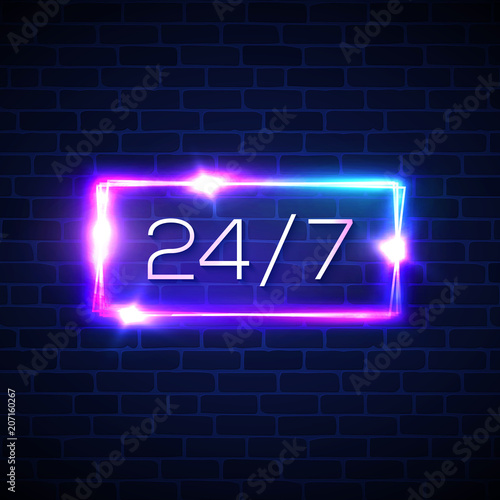 """Lighting Warehouse Menlyn Trading Hours: """"Opening Hours 24 7. Neon Light Rectangle Round The Clock"""