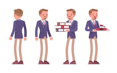 Male office secretary