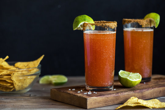 Michelada Bloody Beer Cocktail