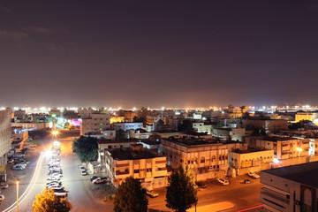 Night city scape of Jeddah city Saudi Arabia.al marwah