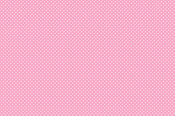 Polka dot seamless pattern. White dots on pink background. Good for design of wrapping paper,...