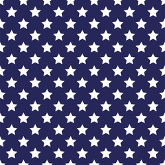 Festive seamless background in national colors USA red white blue. Strips and stars, fireworks Great idea for decorating the holiday on July 4th, Independence memory Days, barbecue party