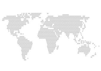 世界地図 人々 模様 イラスト
