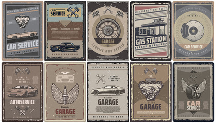 Vintage Car Service Brochures Collection