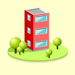 Isometric building
