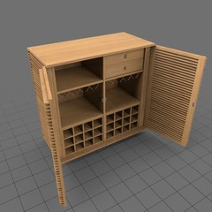 Open modern display cabinet