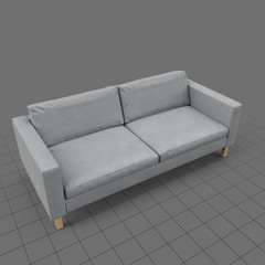 Scandinavian two seater sofa