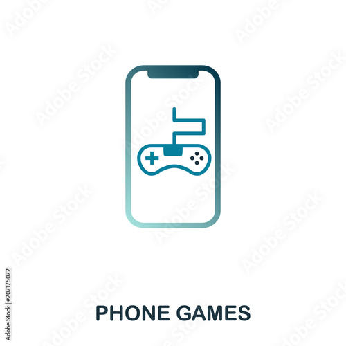 Phone Games icon  Simple element illustration  Phone Games pixel
