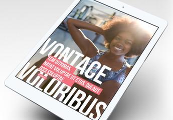 Diseño de ebook de fitness con destacados en negrita