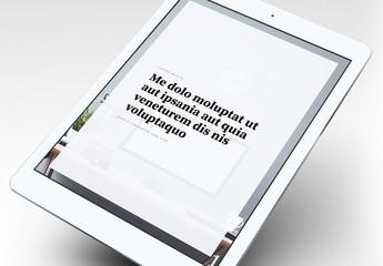 Modèle d'e-book élégant
