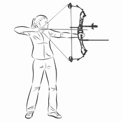 illustration of a archer , vector draw