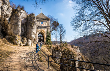 Ruins of Ojcow castle in Poland