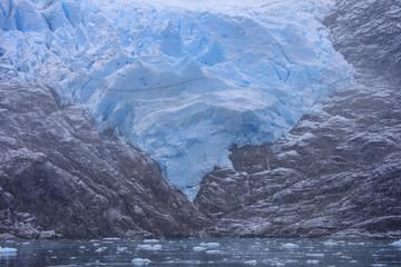 Poster Glaciers Santa Ines glacier in the Strait of Magellan