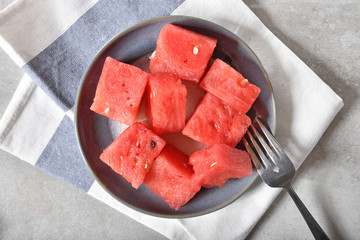 Overhead view of watermelon