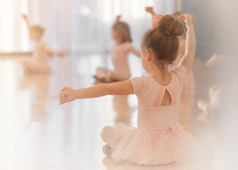 A Girl in Ballet Class, Pink, Tutu, Sweet, Cute, Light, Beauty, Learning