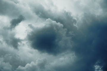 Dark ominous storm clouds
