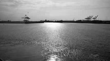 Zeebrugge harbour cranes