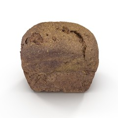 Whole Wheat Bread on white. 3D illustration