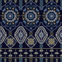 Colorful seamless Paisley pattern. Decorative indian ornament. Ornamental backdrop