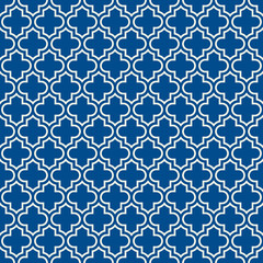 Seamless surface design with ogee ornament. Oriental traditional pattern with repeated mosaic tile. Lantern shapes motif