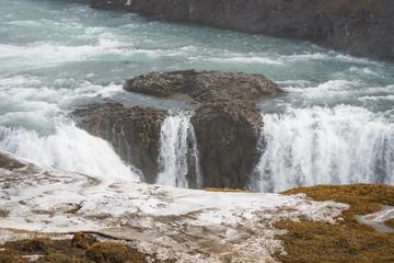 Closeup of Gullfoss Waterfall, Iceland