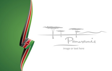 Kenya abstract flag brochure cover poster background vector Wall mural