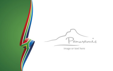 South Africa abstract flag brochure cover poster background vector