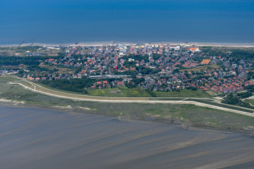 panorama flight over the north sea islands and the coast of germany