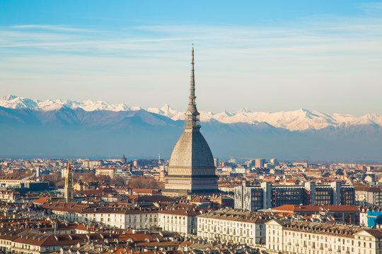 Turin (Torino), Mole Antonelliana tower, simbol of the city. Italy