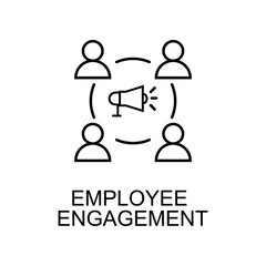 employee engagement line icon. Element of human resources icon for mobile concept and web apps. Thin line employee engagement icon can be used for web and mobile. Premium icon