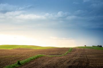Minnesota farmland at sunset Wall mural
