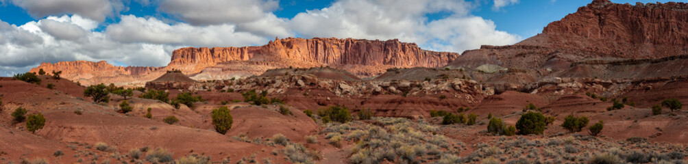 Cathedral Valley Landscape, Capitol Reef, Utah. Cathedral Valley, in the northern area of Capitol Reef National Park, has some of the most stunning views around and yet is lightly visited.