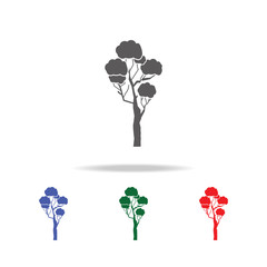 Tree Icon. Elements of trees in multi colored icons. Premium quality graphic design icon. Simple icon for websites, web design, mobile app, info graphics
