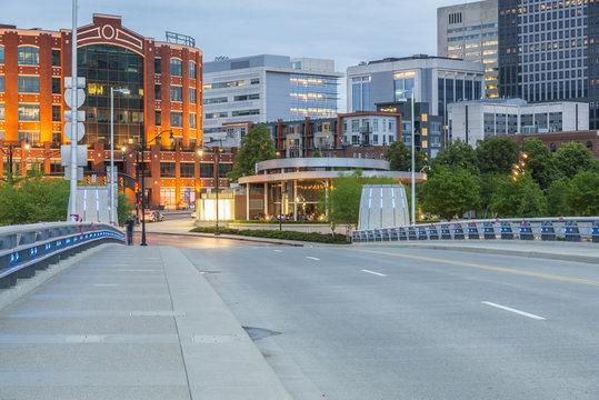 Empty street Columbus ohio