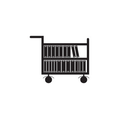 books in a cart illustration. Element of library icon for mobile concept and web apps. Detailed books in a cart icon can be used for web and mobile