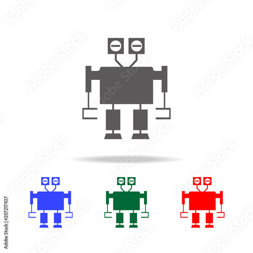 robot icons  Elements of robots in multi colored icons