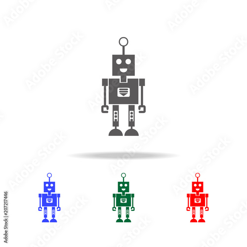 robot with a smile icons  Elements of robots in multi