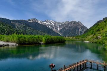 新緑の上高地 大正池