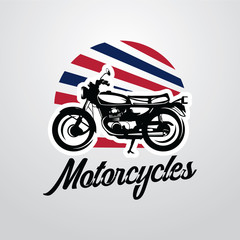 Classic Motorcycle Logo Designs Template