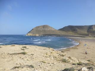 El Playazo de Rodalquilar,en el municipio de Níjar, cerca de la población de Rodalquilar en el Cabo de Gata, Almeria ( Andalucia, España)