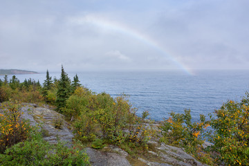 Wall Mural - Palisade Head Rainbow