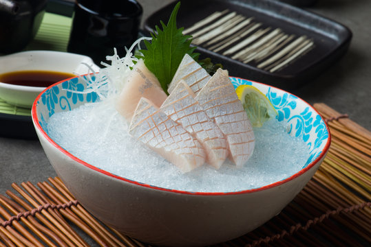 kanpachi toro, amberjack sashimi sushi