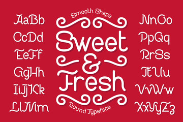 """Smooth rounded typeface named """"Sweet and Fresh"""""""